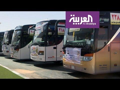 فلسطين اليوم - شاهد السعودية تستقبل أول دفعة من الحجاج برا