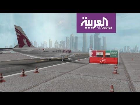 فلسطين اليوم - شاهد ممرات الطوارئ التي فتحت أمام الطيران القطري