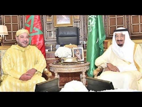 فلسطين اليوم - بالفيديو  الملك محمد السادس يزور العاهل السعودي في طنجة