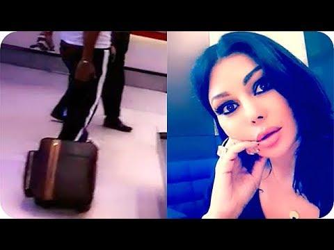 فلسطين اليوم - شاهد سرقة حقيبة هيفاء وهبي في مطار القاهرة