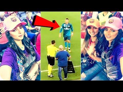 فلسطين اليوم - شاهد فرحة الإعلامية مريم سعيد على خروج رونالدو من مباراة الكلاسيكو