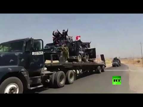 فلسطين اليوم - شاهد وحدات الشرطة العراقية تتحرك باتجاه تلعفر