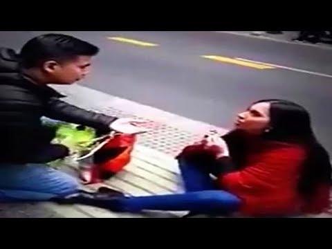 فلسطين اليوم - شاهد هذا ما حدث لفتاة طلبت يد حبيبها في الشارع