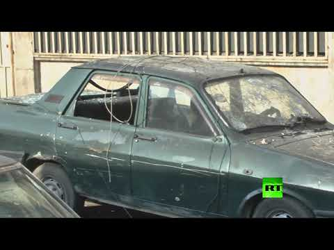 فلسطين اليوم - شاهد مسلحون يقصفون حي الأكرمية في حلب