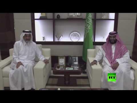 فلسطين اليوم - شاهد لقاء بين محمد بن سلمان وعبد الله بن علي آل ثاني في جدة