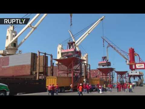 فلسطين اليوم - وصول أول شحنة قمح روسي إلى فنزويلا