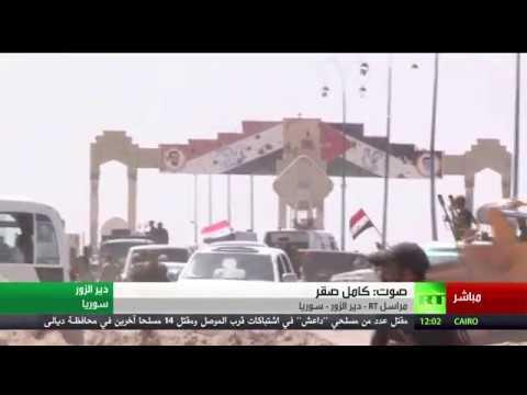 فلسطين اليوم - لحظة استهداف داعش للجيش السوري في دير الزور