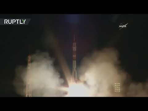 فلسطين اليوم - إطلاق مركبة سويوز الفضائية الروسية