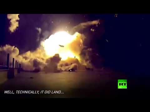 فلسطين اليوم - شاهد فيديو لانفجارات فالكون 9 في سبايس إكس