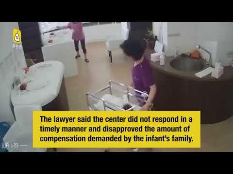 فلسطين اليوم - شاهد إهمال ممرضة يتسبب في سقوط طفل حديث الولادة