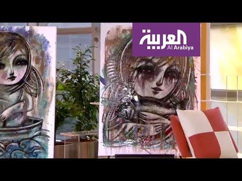 فلسطين اليوم - شاهد لوحات زاهية يعتمدها التشكيلي مهند عرابي في معرضه الأخير