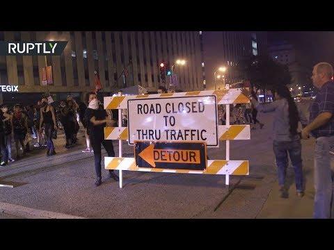 فلسطين اليوم - شاهد شغب في سانت لويس الأميركية احتجاجا على تبرئة شرطي