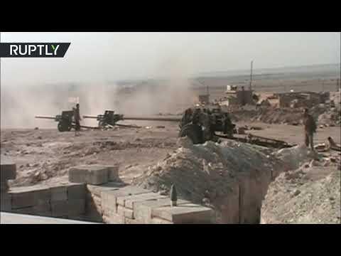 فلسطين اليوم - شاهد تحرير بلدة الجفرة في محافظة دير الزور