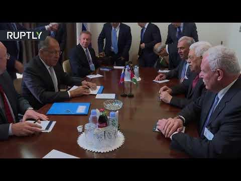 فلسطين اليوم - شاهد سيرغي لافروف يلتقي محمود عباس في نيويورك