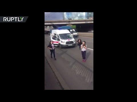 فلسطين اليوم - شاهد فتيات من بطرسبورغ ينقذن قطة على طريق سريع