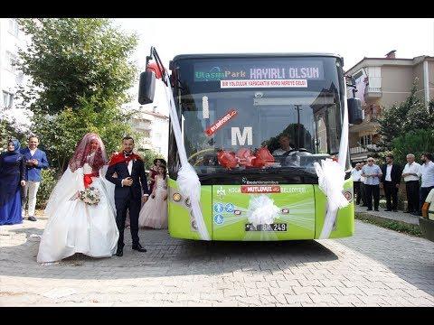 فلسطين اليوم - عروسان يحتفلان بزفافهما داخل حافلة نقل عام