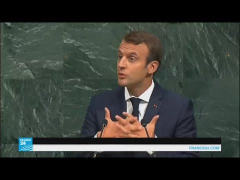 فلسطين اليوم - شاهد ماكرون يقترح حلًا للأزمة السورية
