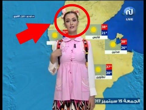 فلسطين اليوم - شاهد مذيعة عربية تقدم النشرة الجوية بملابس المدرسة