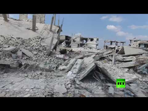 فلسطين اليوم - شاهد طائرة من دون طيار توثق دمارًا هائلًا شهدته مدينة درعا السورية
