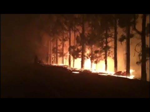 فلسطين اليوم - شاهد حريق هائل داخل جزيرة غران كناريا في جزر الكناري