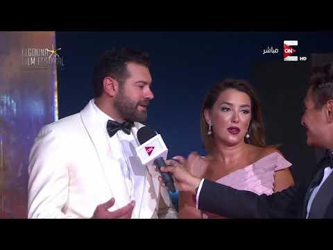 فلسطين اليوم - شاهد عمرو يوسف وكندة علوش يتحدثان عن مشاركتهما في مهرجان الجونة