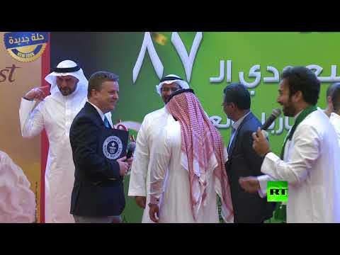 فلسطين اليوم - بالفيديو  جدة تدخل موسوعة غينيس بأكبر قالب كاتو ماربل