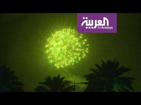فلسطين اليوم - بالفيديو  أضخم احتفال في سماء السعودية خلال يومها الوطني