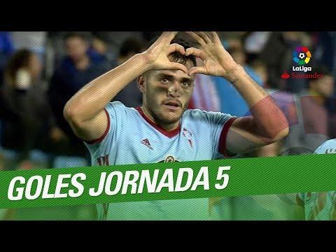 فلسطين اليوم - استمتع بجميع أهداف الجولة الخامسة في الدوري الإسباني