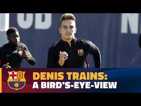 فلسطين اليوم - دينيس سواريز يتألق في تدريب برشلونة