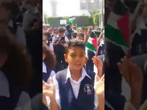 فلسطين اليوم - شاهد مدارس غزة تحتفل باتفاق المصالحة بين فتح وحماس