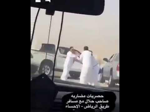 فلسطين اليوم - شاهد مشاجرة عنيفة على الطريق في الرياض بسبب الإبل