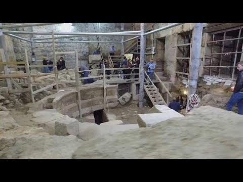 فلسطين اليوم - شاهد اكتشاف مسرح روماني تحت الأرض بالقرب من الأقصى