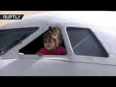 شاهد افتتاح روضة للأطفال في طائرة قديمة في جورجيا