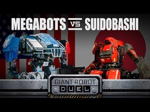 فلسطين اليوم - شاهد الولايات المتحدة تهزم اليابان في مسابقة الروبوتات العملاقة