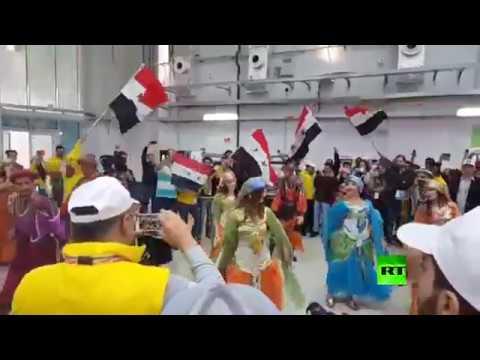 فلسطين اليوم - شاهد رقصات شعبية على هامش مهرجان الشباب العالمي