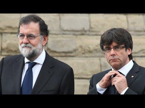 فلسطين اليوم - بالفيديو  رئيس وزراء إسبانيا يهدد بتعليق الحكم الذاتي لكتالونيا