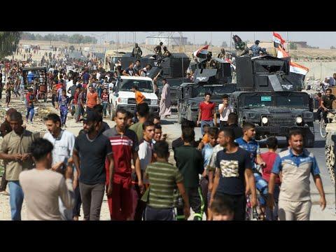 فلسطين اليوم - شاهد فرار نحو 100 ألف كردي من كركوك خشية المعارك