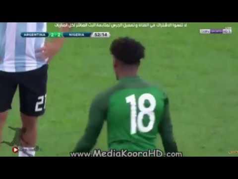الأرجنتين بدون ميسي تسقط أمام نيجيريا برباعية وديًا