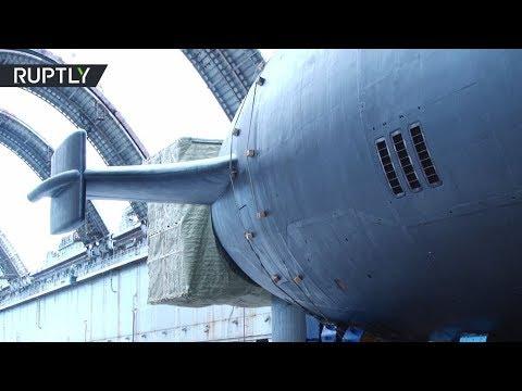 شاهد  عرض أحدث غواصة نووية روسية
