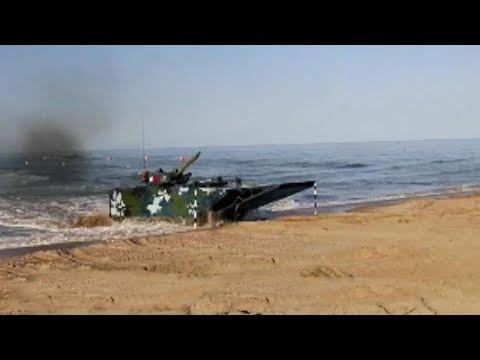 شاهد الجيش الصيني يُعلن عن دبابة جديدة تعمل في البر والبحر