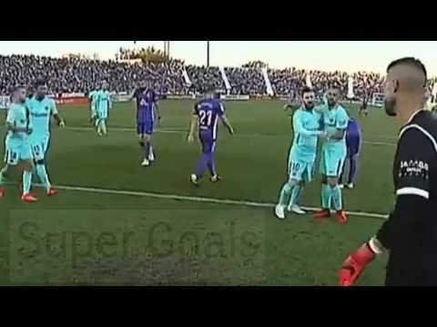 شاهد: تصرف غريب من ميسي في مباراة برشلونة وليغانيس