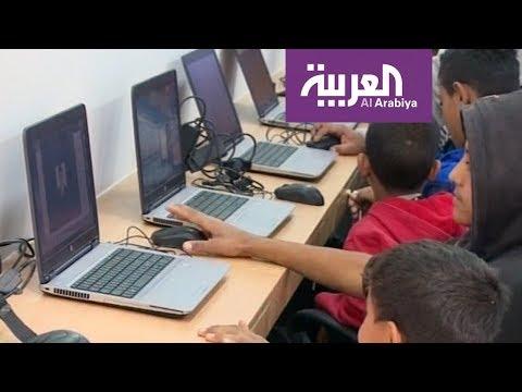 شاهد مختبر حاسوب متنقل في فلسطين لنقل المعرفة للمضارب البدوية