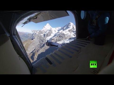 شاهد مغامرة خطيرة تحبس الأنفاس في جبال الألب