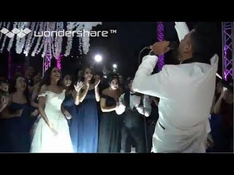شاهد عريس يفاجئ عروسه بأغنية مهرجانات من تأليفه