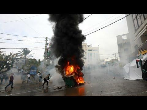 مواجهات في مظاهرة أمام السفارة الأميركية في بيروت