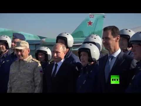 شاهد التقاط صورة جماعية للطيارين الروس