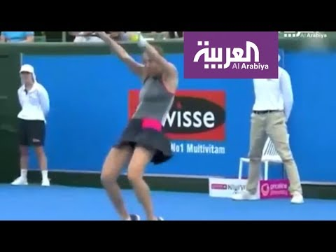 شاهد لاعبة تنس عالمية ترقص بالمضرب