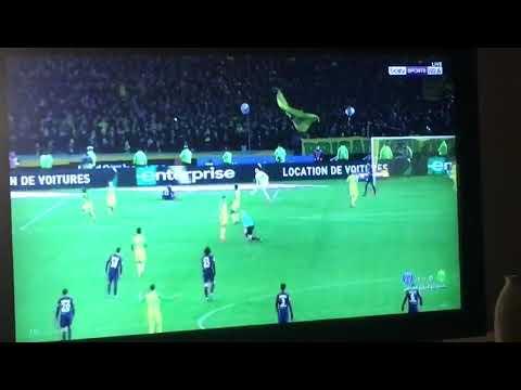 شاهد لقطة طريفة من مباراة نانت وباريس سان جيرمان