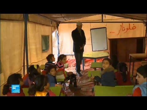 شاهد تدشين مدارس تحت الخيم في الأردن للاجئين السوريين