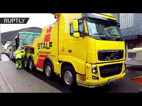 بالفيديو إصابة 50 شخصًا جراء اصطدام حافلة أطفال بمبنى سكني في ألمانيا